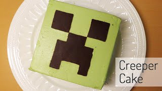 getlinkyoutube.com-크리퍼 케이크 How to make a creeper cake