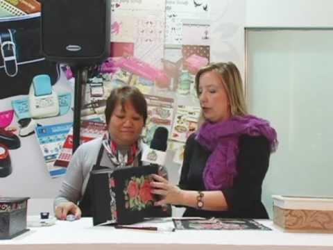 Passo s Passo Caixa de Costura com Rosa Vermelha Artesã Mamiko Yamashita