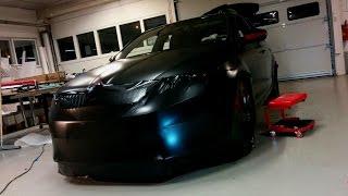 getlinkyoutube.com-Car wrapping - Skoda Octavia RS 2014 Satin black wrap