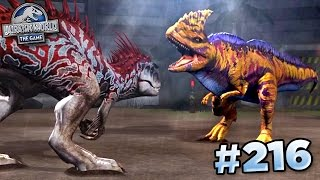 getlinkyoutube.com-MAXED RAJASTEGA FIGHTS INDOMINUS!!! || Jurassic World - The Game - Ep216 HD