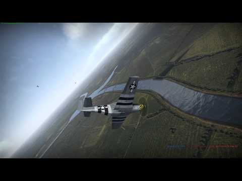 War Thunder Dogfight Mustang vs La 7