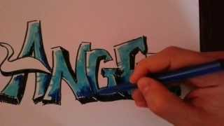 getlinkyoutube.com-Drawing a Graffiti | Angel