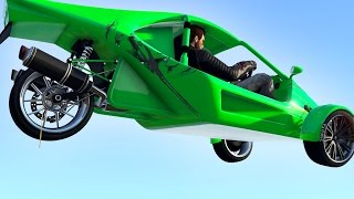 getlinkyoutube.com-NEW BIKE-CAR VEHICLE! (GTA 5 Funny Moments)