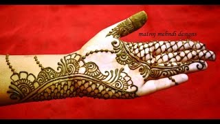 getlinkyoutube.com-beautiful easy simple trendy henna mehndi designs for hands: Matroj Mehndi designs