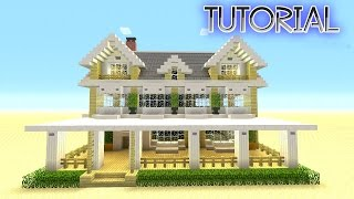 getlinkyoutube.com-Minecraft: How To Build A Suburban House   Minecraft Berch House   Tutorial