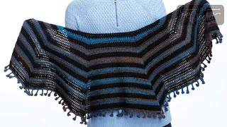 How To Crochet A Shawl: Cool Casual Shawl