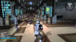getlinkyoutube.com-Star Wars Battlefront 2 Gameplay 5 Coruscant - Knightfall ( Jedi temple order 66 )