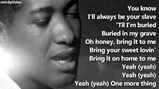 Sam Cooke Bring It On Home to Me lyrics