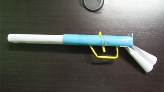 getlinkyoutube.com-How to Make a Simple Paper Shotgun that shoots rubber band - Easy Tutorials