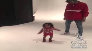 getlinkyoutube.com-Chris Brown's Daughter Royalty Loves To Dance Like Her Dad