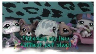 getlinkyoutube.com-Unboxing my New Littlest pet shops!:D