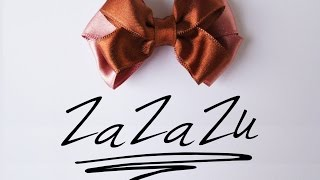 getlinkyoutube.com-Kako napraviti mašnu od satenske trake /  how to make satin ribbon bow