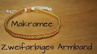 getlinkyoutube.com-Makramee: Zweifarbiges Armband
