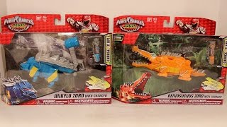 getlinkyoutube.com-Ankylo Zord & Deinosuchus Zord Review [Power Rangers Dino Super Charge]
