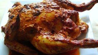 getlinkyoutube.com-Christmas Tandoori Whole Chicken How to make marinade & roast