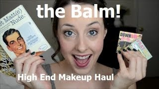getlinkyoutube.com-High End Makeup! The Balm Products Haul / Review! Palettes & Blushes