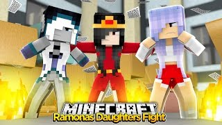getlinkyoutube.com-Minecraft Little Kelly : RAMONAS DAUGHTERS FIGHT! w/ Little Carly & Sharky Adventures!