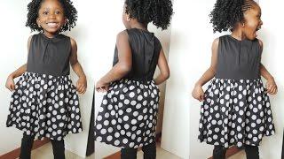 getlinkyoutube.com-HOW TO MAKE A SIMPLE DRESS FOR KIDS. DIY