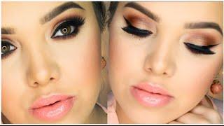 getlinkyoutube.com-Bronze Eyes & Peach Lips | Spring Makeup Tutorial