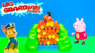 GUARDIAN BEAVERS Nickelodeon Paw Patrol Challenges Peppa Pig in Guardian Beavers  Game Toys Video