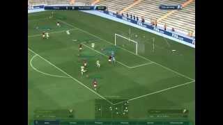getlinkyoutube.com-Chiến thuật giả lập xếp hạng (glxh) sao vàng A đội hình 40tr game fifaonline 03 2015-2016 - football