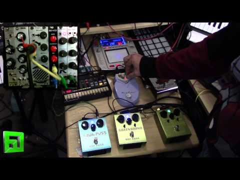 Delay pedal fun with Volca beats, Aqua-puss, and more