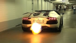 getlinkyoutube.com-Novitec Torado Lamborghini Aventador LP760 - Spitting Flames!