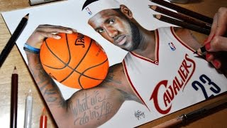 Drawing LeBron James - Cleveland Cavaliers