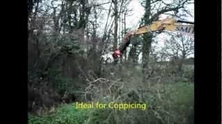 getlinkyoutube.com-Large Excavator Saw 'Protech Power Blade' on Cat Excavator