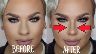 getlinkyoutube.com-How to Make a BIG Nose look Small | Nose Contouring