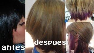 getlinkyoutube.com-Como decolorar el cabello Negro a Rubio