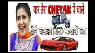 Chetak : Sapna Chaudhary New Song  Yaar Tera Chetak Pe Chaale whatsapp status video