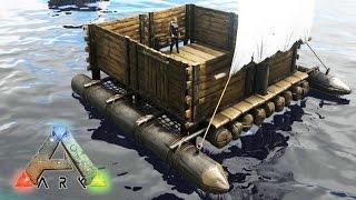 getlinkyoutube.com-NUEVO SUPER BARCO CON CASA!! - ARK: Survival Evolved #63