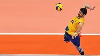 getlinkyoutube.com-Top 20 Best Volleyball Spikes - Lucas Saatkamp (Middle Blocker)