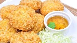 getlinkyoutube.com-Deep Fried Shrimp Cakes - ทอดมันกุ้ง (Tod Mun Kung) [4K]