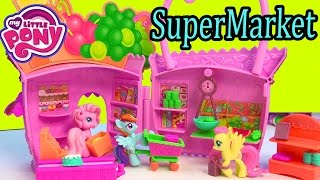getlinkyoutube.com-My Little Pony Supermarket Grocery Food Store Pinkie Pie Ponyville MLP Playset Unboxing Toy Review
