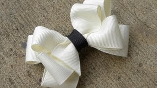 getlinkyoutube.com-HOW TO: Make an Eight Loop Boutique Bow Tutorial by Just Add A Bow