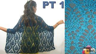 getlinkyoutube.com-Pineapple Lace Shawl - Crochet Tutorial - Part 1