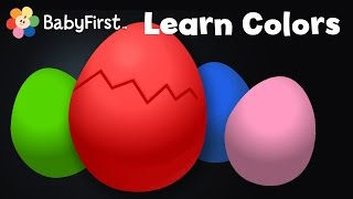 getlinkyoutube.com-Learn Colors | Surprise Eggs | Opening Surprise Eggs & learning the color Red song with Color Crew