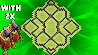 getlinkyoutube.com-Clash Of Clans - TH9 hybrid base / With 2 air sweeper /speed build