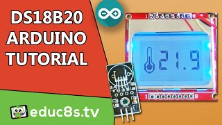 getlinkyoutube.com-DS18B20 sensor Thermometer with Nokia 5110 LCD display - Arduino Project