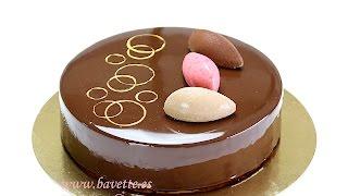 getlinkyoutube.com-Tarta mascarpone, con frambuesa, chocolate , y glaseado espejo.