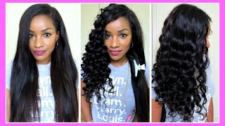 getlinkyoutube.com-♥Straight to Curly w/ Clip-Ins│Easy Curling Tutorial using Clip In Extensions