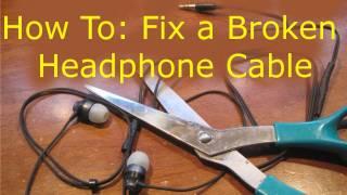 getlinkyoutube.com-How To: Fix Broken Headphones (Cut in Half)