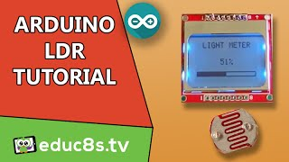 getlinkyoutube.com-Arduino Project: Light Meter using a photoresistor ( LDR ) and a Nokia 5110 lcd on Arduino  Tutorial