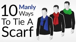 getlinkyoutube.com-How To Tie 10 Scarf Knots For Men   Men's Scarves Tying Tutorial   Wear Scarfs Video