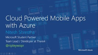 Microsoft Azure Mobile Service Authentication and Authorization