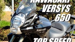 getlinkyoutube.com-KAWASAKI VERSYS 650 - TOP SPEED (HD)