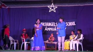 getlinkyoutube.com-Archangels High School Annual Day 2014 -  Skit on Indian Culture by Class 10