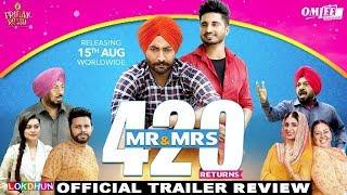 Mr & Mrs 420 Returns Trailer Review | Jassie Gill, Ranjit Bawa | Rel. 15th Aug | DAAH Films width=